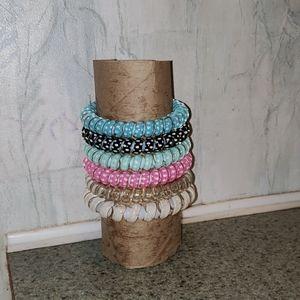 5 phone cord bracelets